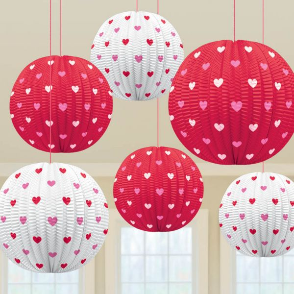 Valentine Printed Mini Lanterns