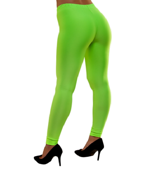 80's Neon Leggings - Green