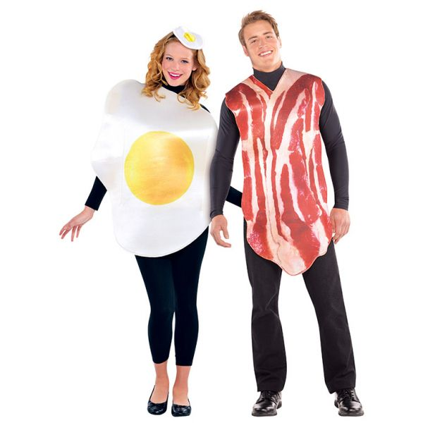 Adults Breakfast Buddies Couple Costume