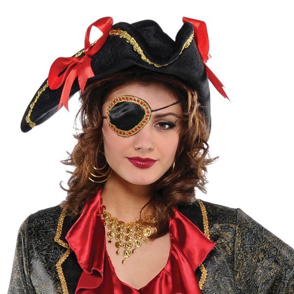 Adults Pirate Elegant Eye Patch