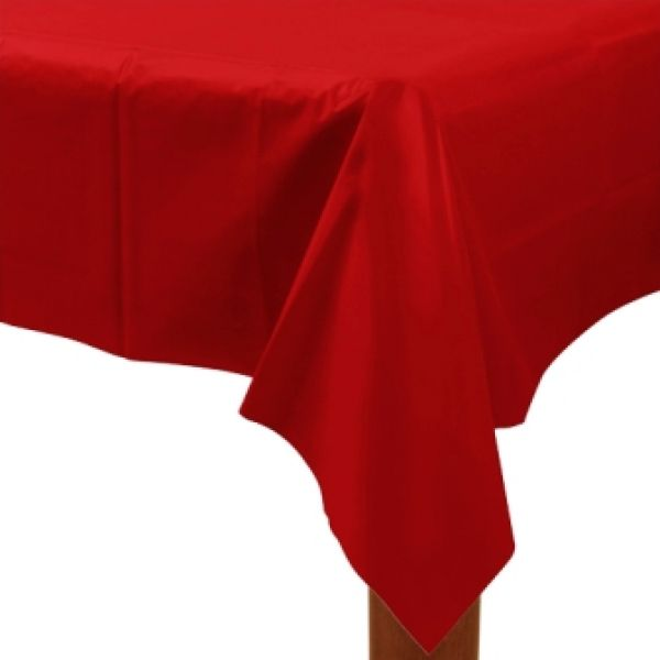 Apple Red Plastic Tablecover