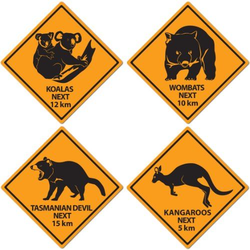 Australian - Outback Road Sign Cutouts