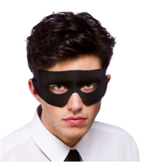 Bandit/Superhero Mask - Black