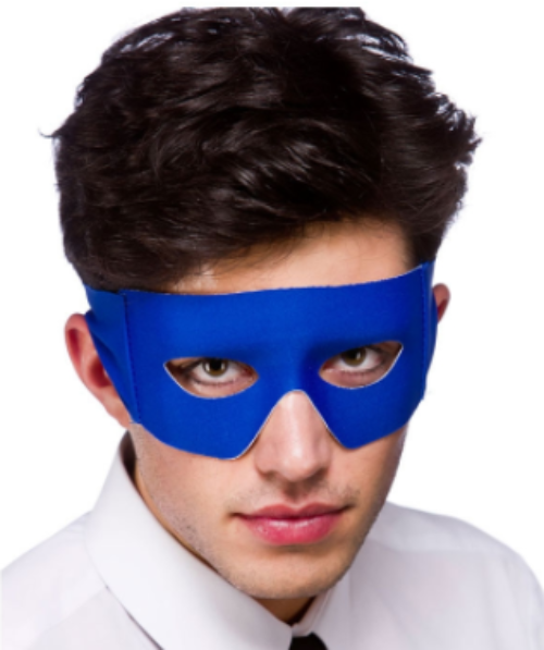 Bandit/Superhero Mask - Blue