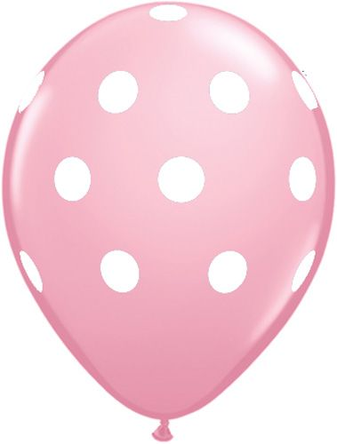 Big Polka Dot Latex Balloon - Baby Pink