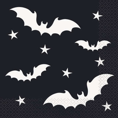 Black Bats Halloween Luncheon Napkins 20ct