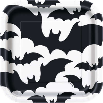Black Bats Halloween Square 7