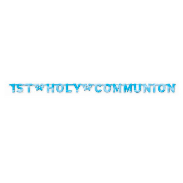 Blue Holy Communion Letter Banner
