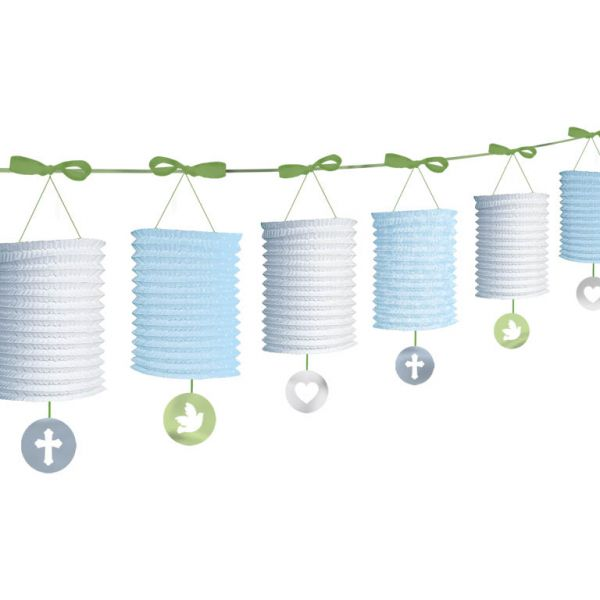 Blue Paper Lantern Garlands