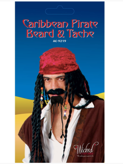 Caribbean Pirate Beard and Moustache