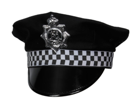 Checked Police Hat