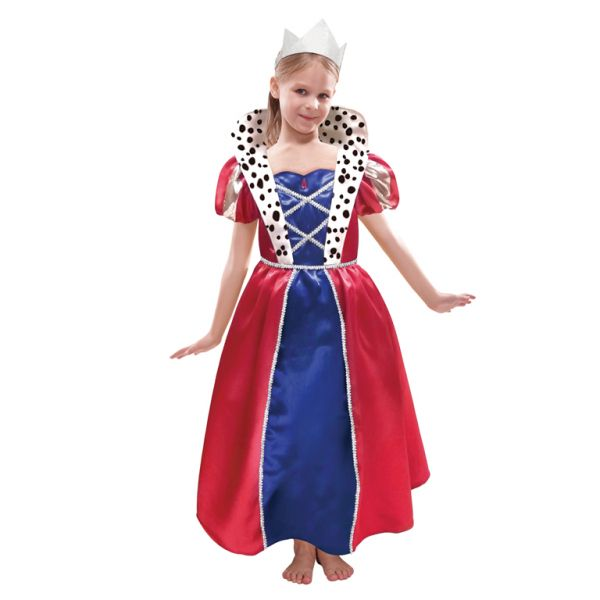 Children Queen Dress & Crown Costume