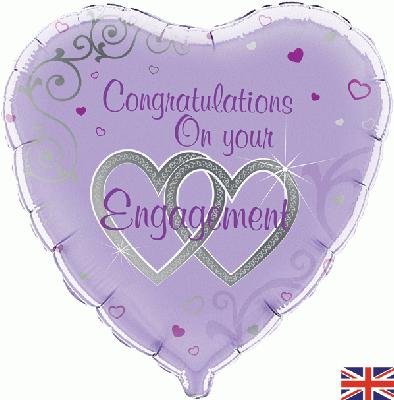 Congratulations On Your Engagement Foil Balloon