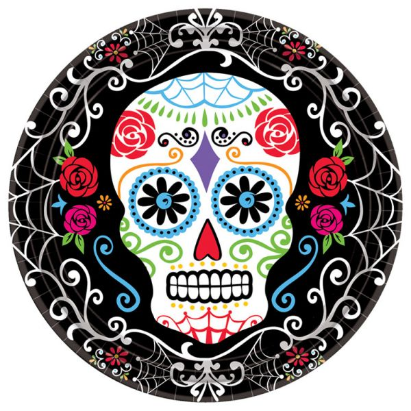 Day of the Dead Plates - 23cm