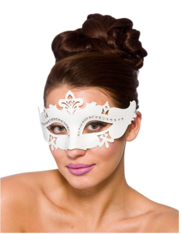 Demonte Eye Mask - White