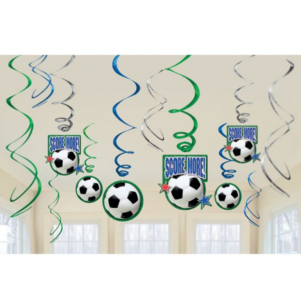 Football Party Swirl Decorations