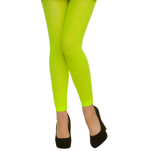 Footless Tights - Neon Green