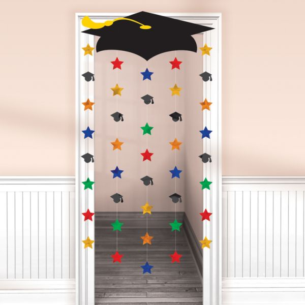Graduation Cap Door Curtains