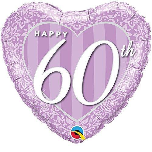 Happy 60th Anniversary Heart Foil Balloon