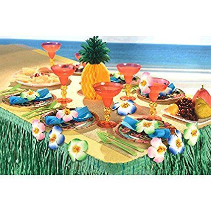 Hawaiian Hibiscus Table Cover Clips