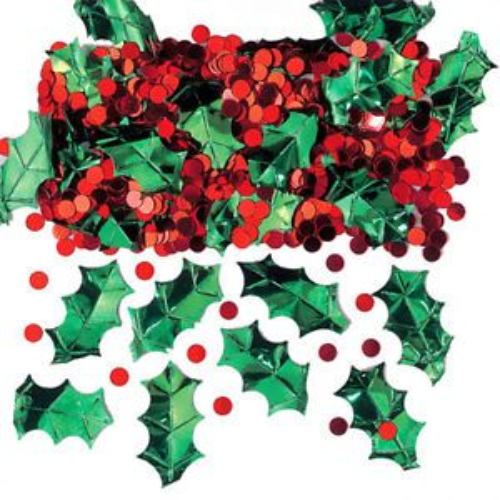 Holly with Berries Confetti
