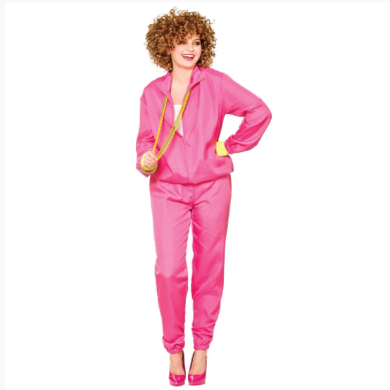 Ladies 80's Shell Suit - Pink