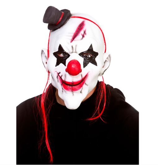 Latex Mask - Evil Clown