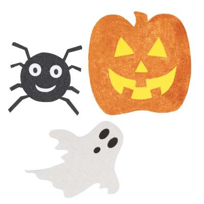 Mini Halloween Glitter Cut Outs