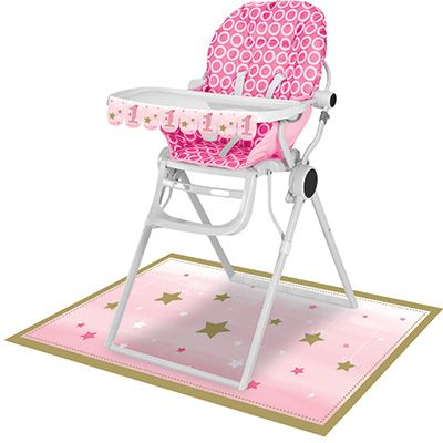 One Little Star Pink High Chair Kit