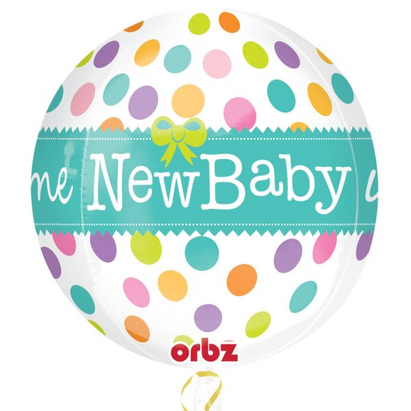 Orbz Welcome New Baby Foil Balloon