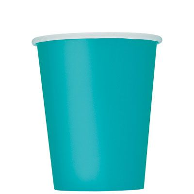 Paper Cups 270ml -Caribbean Teal