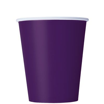 Paper Cups 270ml - Deep Purple