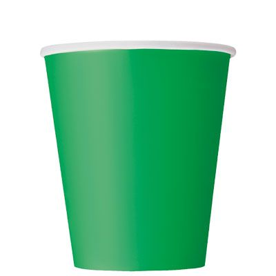 Paper Cups 270ml - Emerald Green
