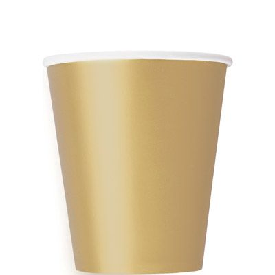Paper Cups 270ml - Gold