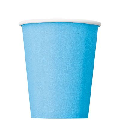 Paper Cups 270ml - Powder Blue