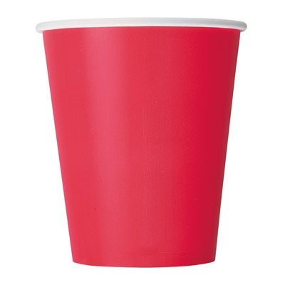 Paper Cups 270ml - Ruby Red (14 pack )