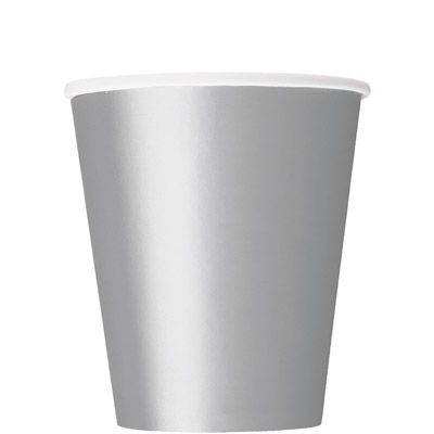 Paper Cups 270ml - Silver