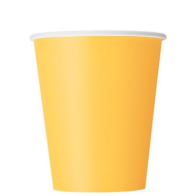 Paper Cups 270ml - Sunflower Yellow