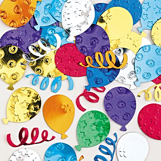 Party Balloons Multi Coloured Confetti