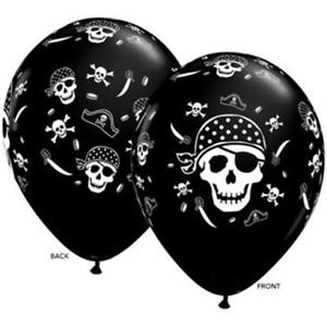 Pirate Skull & Cross Bones Latex Balloon