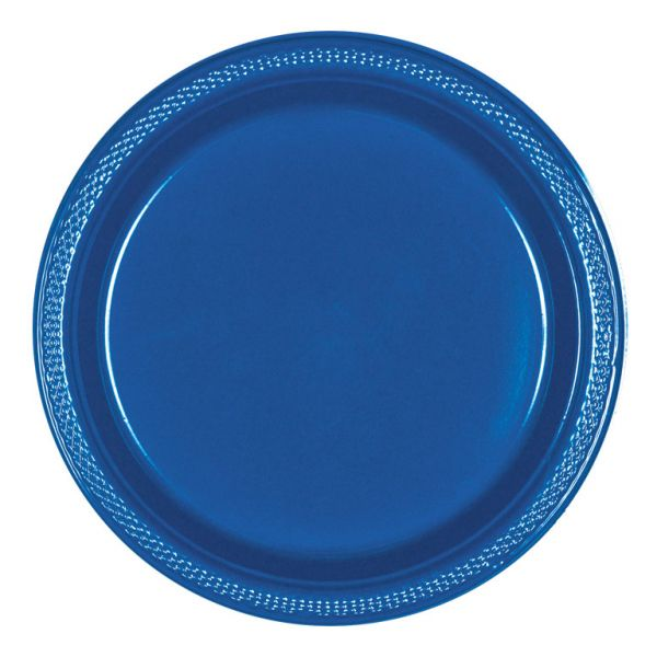 Plastic Plate 23cm Bright Royal Blue