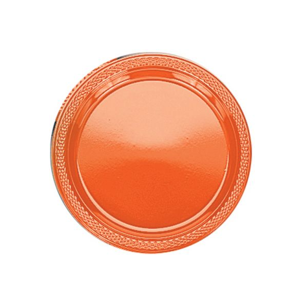 Plastic Plate 23cm Orange Peel