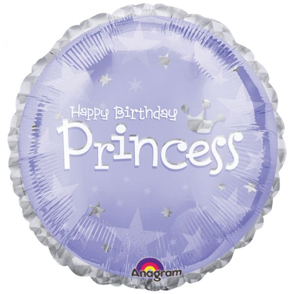 Princess Happy Birthday Standard Foil