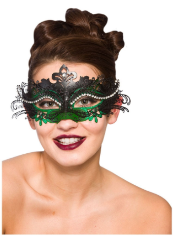 Puccini Deluxe Eyemask - Black & Green