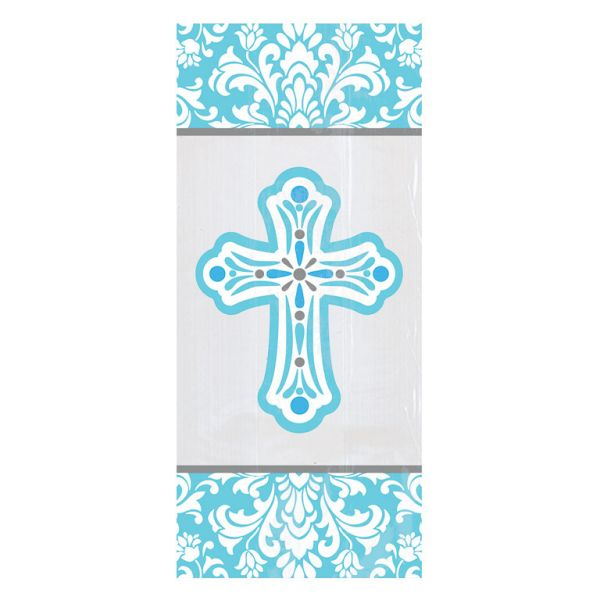 Religious Small Blue Party Bags