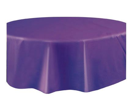 Round Plastic Tablecover Deep Purple