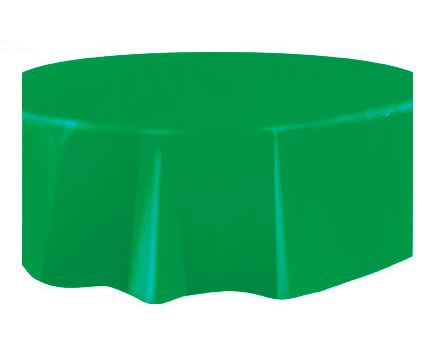 Round Plastic Tablecover Emerald Green