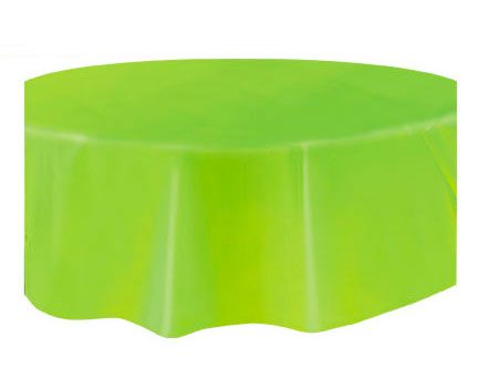 Round Plastic Tablecover Lime Green