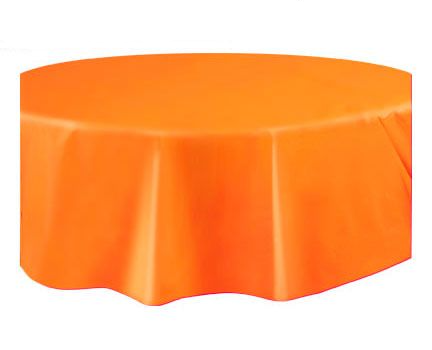 Round Plastic Tablecover Pumpkin  Orange