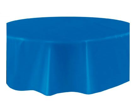 Round Plastic Tablecover Royal Blue